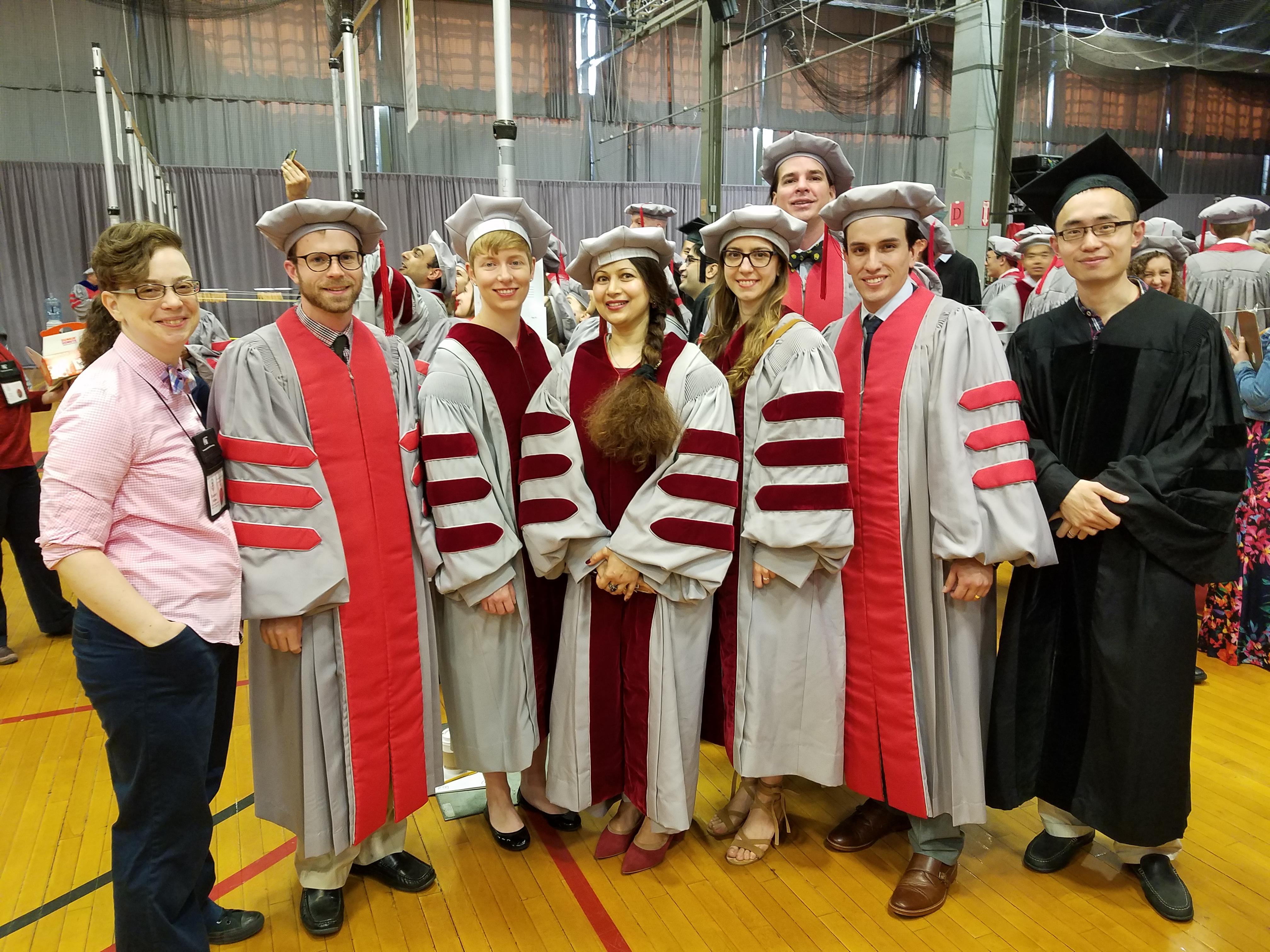 Academic Administrator Elizabeth Milnes, Dr. Michael Davidson, Dr. Sarah Fletcher, Dr. Sahar Hashmi, Dr. Goksin Kavlak, Dr. Joshua Mueller, Dr. Daniel Merchan, Dr. Jingshu Zhang