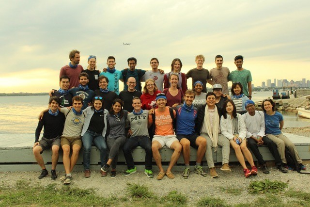 The TPP Class of 2018 at Thompson Island during their first month at MIT
