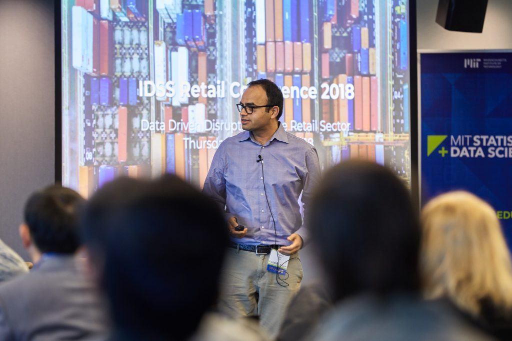 Devavrat Shah speaking at the MIT Retail Conference