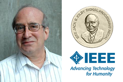 "Alan Willsky, Jack Kirby medal, IEEE logo and slogan ""Advancing Technology for Humanity"""