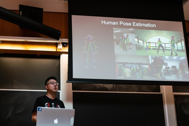 Mingman Zhao, a PhD student in EECS, spoke to the inaugural 6.883/6.S083 class about common issues in using machine learning tools to address problems.