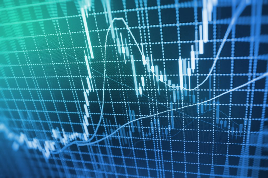 stock image of a stock market graph