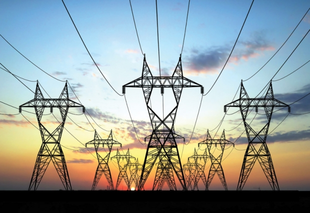 a photo of power lines and towers