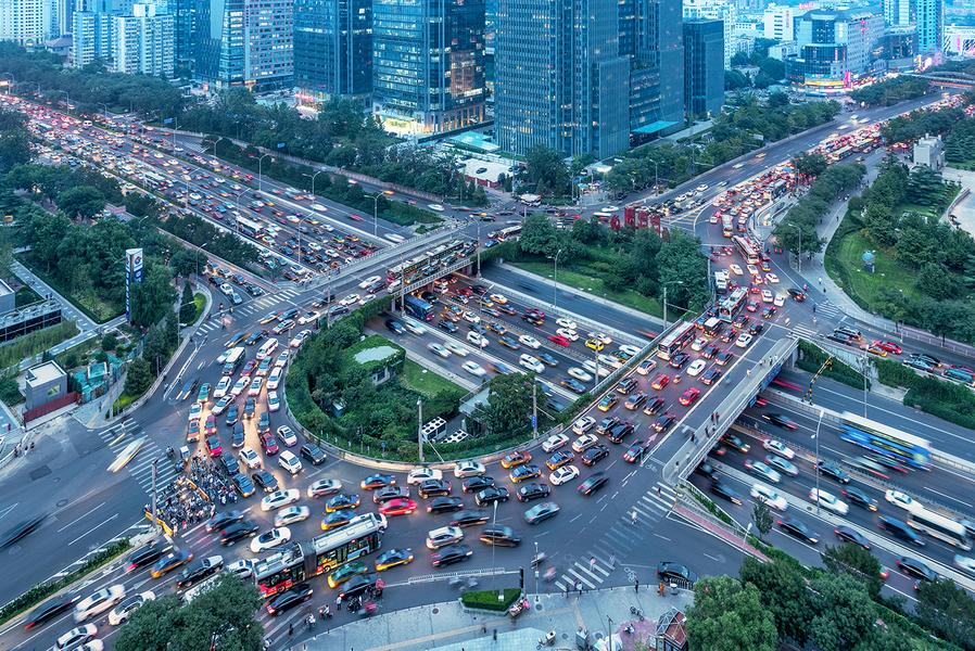 photo of traffic in Beijing
